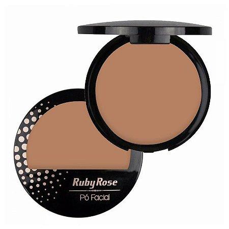 Pó Facial com Espelho Ruby Rose  HB7212 Cor 15