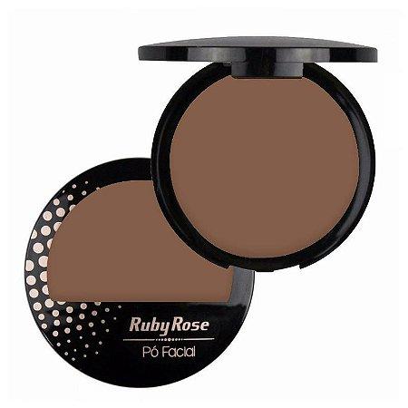Pó Facial com Espelho Ruby Rose  HB7212 Cor 21