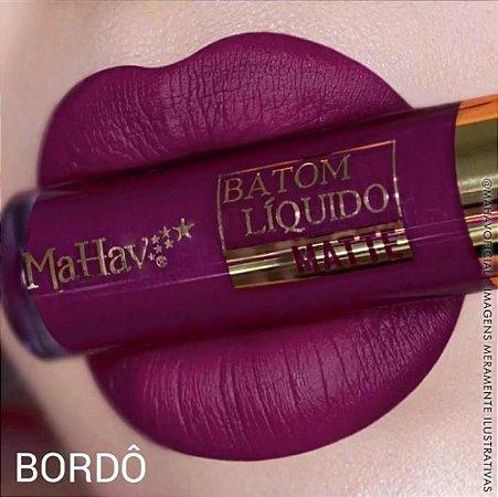 Batom Líquido Matte Mahav Bordô
