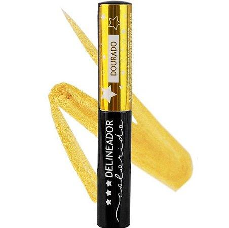 Delineador Líquido Colorido Mahav Dourado