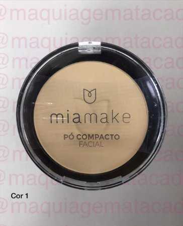 Pó Facial Compacto Mia Make Cor 01
