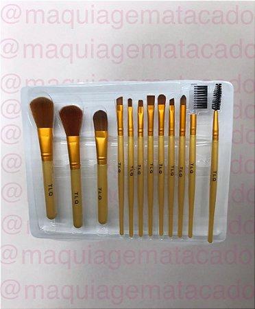 Kit 12 Pincéis para Maquiagem TLQ