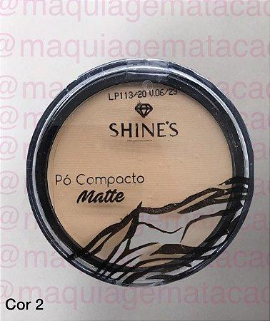 Pó Compacto Matte Shines Cor 2