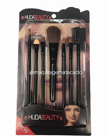 Kit 7 Pincéis para Maquiagem Huda Beauty