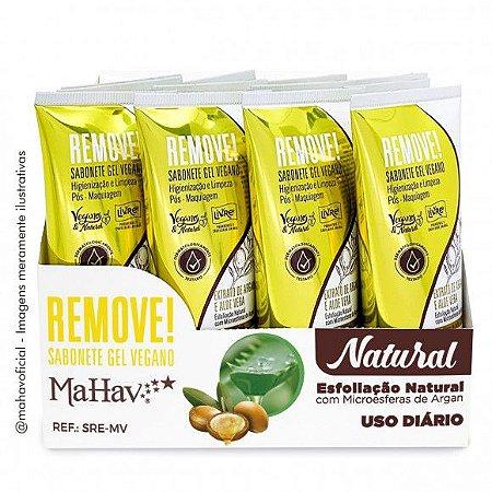 Sabonete Gel Vegano Remove Pós-Maquiagem Mahav Atacado 12 Unidades