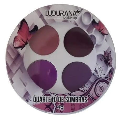 Quarteto de Sombras Redonda Ludurana Cor 03 Roxo