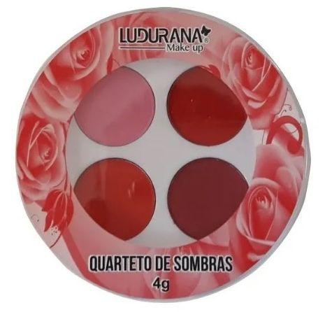 Quarteto de Sombras Redonda Ludurana Cor 04 Vermelho
