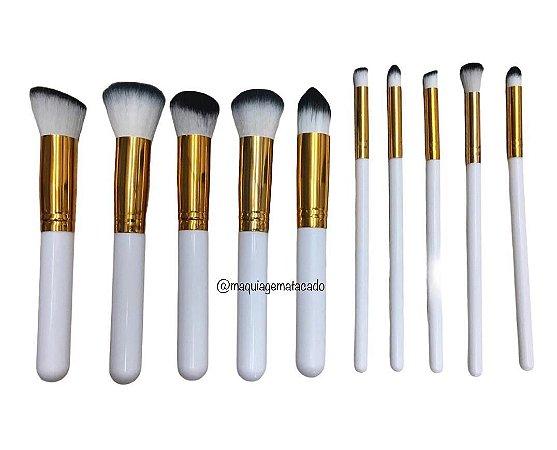 Kit 10 Pincéis para Maquiagem