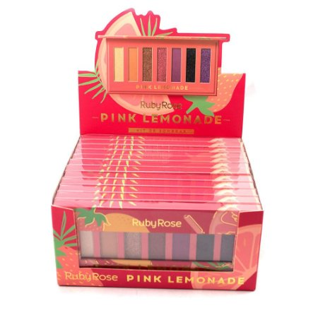 Paleta de Sombras Pink Lemonade Ruby Rose HB1056 Atacado Box 12 Unidades