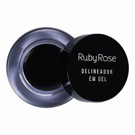 Delineador em Gel Black Ruby Rose HB8401