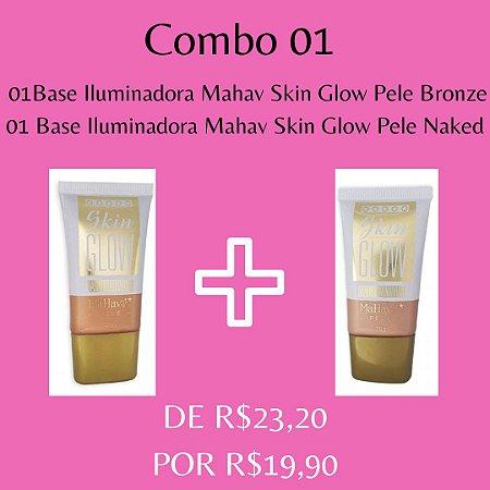 2 Bases Iluminadora Mahav Skin Glow - Kit