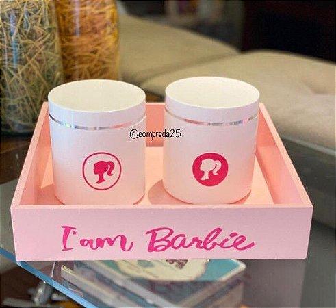 Kit Bandeja com 2 Potes Barbie II