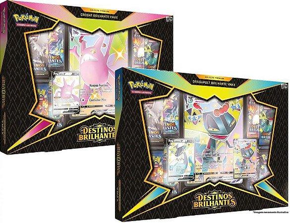 Kit 6 Box Crobat & Dragapult VMAX - Destinos Brilhantes