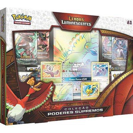 Pokémon Box Poderes Supremos Lendas Luminescentes - Ho - Oh - GX