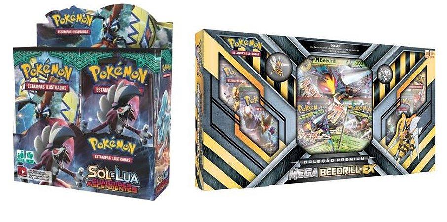Pokémon - 1 Booster Box Sol e Lua 2 + 1 Box Beedril