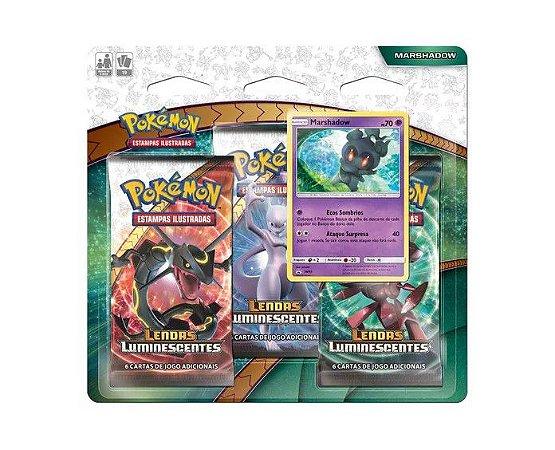 Pokémon Blister Triplo Marshadow - Lendas Luminescentes