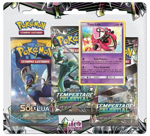 Pokémon Blister Triplo Sol e Lua 7 - Tempestade Celestial