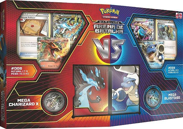 Pokémon - Box Arena de Batalha - Mega Charizard X VS Mega Blastoise