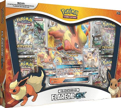 Pokémon - Box Vaporeon GX, Jolteon GX e Flareon GX