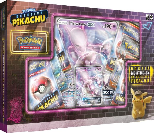 Box Detetive Pikachu - Mewtwo GX