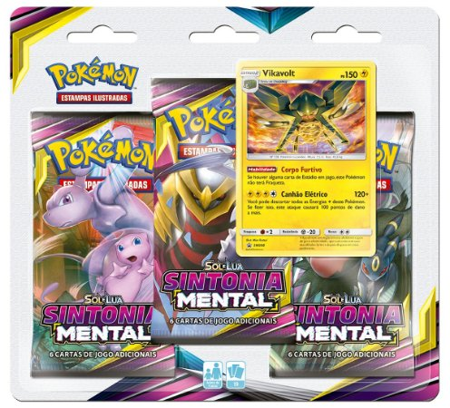 Pokémon - Blister Triplo Sol e Lua 11 - Sintonia Mental