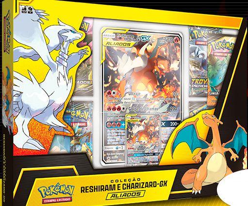 Pokémon Box - Reshiram e Charizard GX