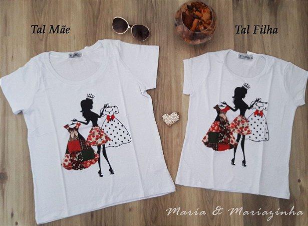 Camiseta Estampa Moça Tal Mãe Tal Filha