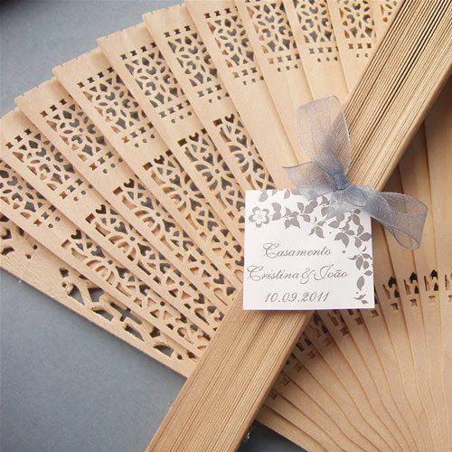 10 Leques de madeira (Lembrancinha de Casamento)
