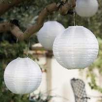 10 Luminárias Japonesa Tecido Branca Lisa Diam.30cm