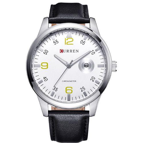 Relógio Masculino Curren Analógico 8116 Preto e Branco