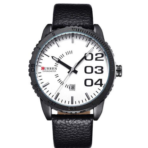 Relógio Masculino Curren Analógico 8125 Preto e Branco