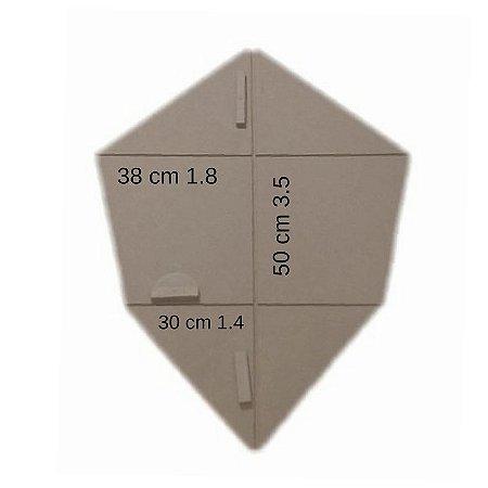 Forma Gabarito p/ Fazer Armação de Pipa Modelo Camarão Pequeno