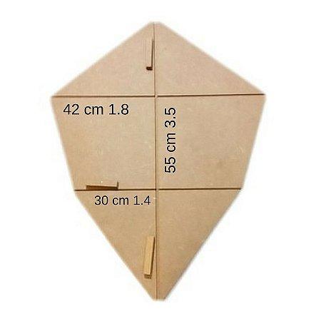 Forma Gabarito p/ Fazer Armação  de Pipas Modelo Camarão Médio
