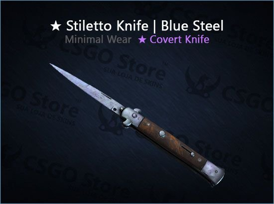 ★ Stiletto Knife   Blue Steel (Minimal Wear)