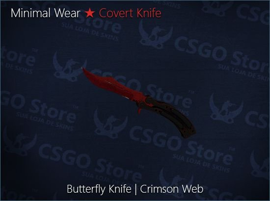 ★ Butterfly Knife | Crimson Web