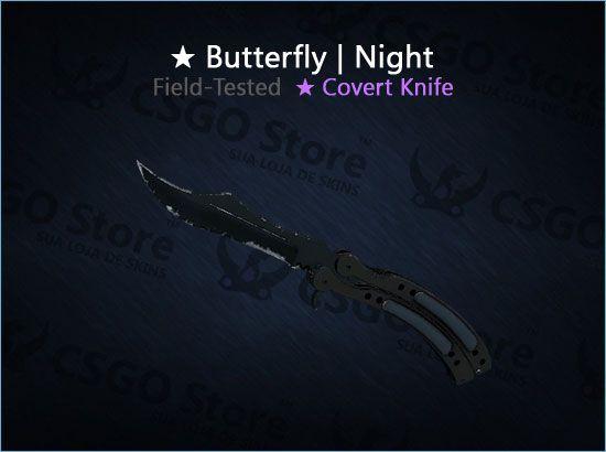 ★ Butterfly Knife | Night (Field-Tested)