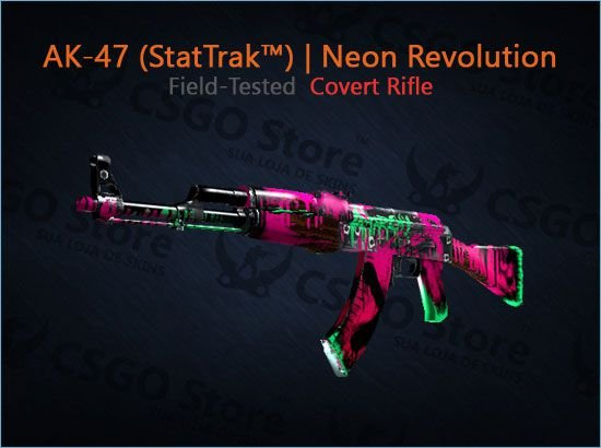 AK-47 (StatTrak™) | Neon Revolution (Field-Tested)
