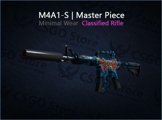 M4A1-S | Master Piece (Minimal Wear)