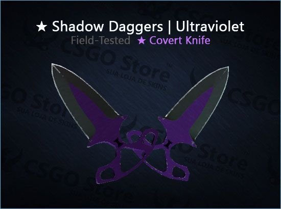 ★ Shadow Daggers | Ultraviolet 0.16 (Field-Tested)