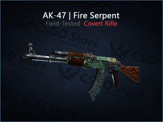 AK-47 | Fire Serpent 0.16 (Field-Tested)