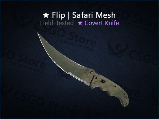 ★ Flip Knife | Safari Mesh (Field-Tested)