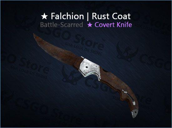 ★ Falchion Knife | Rust Coat (Battle-Scarred)