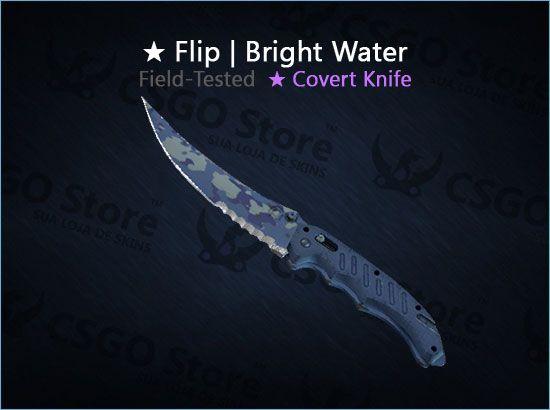 ★ Flip Knife | Bright Water (Field-Tested)