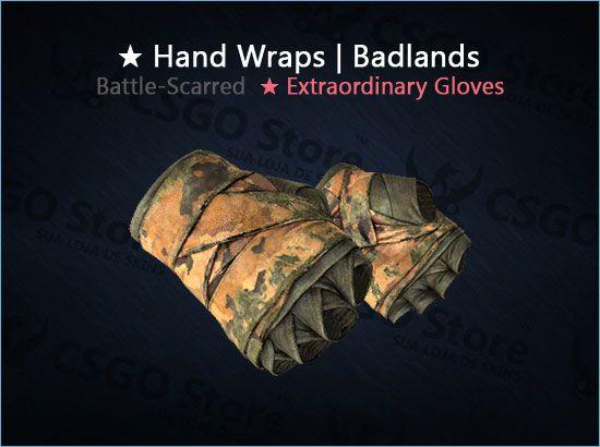 ★ Hand Wraps | Badlands (Battle-Scarred)