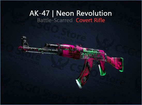 AK-47 | Neon Revolution (Battle-Scarred)