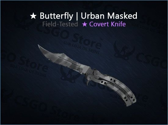 Butterfly Knife | Urban Masked (Field-Tested)