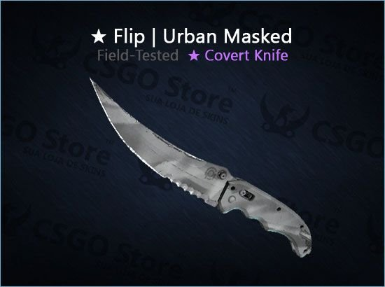★ Flip Knife | Urban Masked (Field-Tested)
