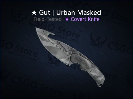 ★ Gut Knife | Urban Masked (Field-Tested)