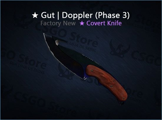 ★ Gut Knife | Doppler Phase 3 (Factory New)