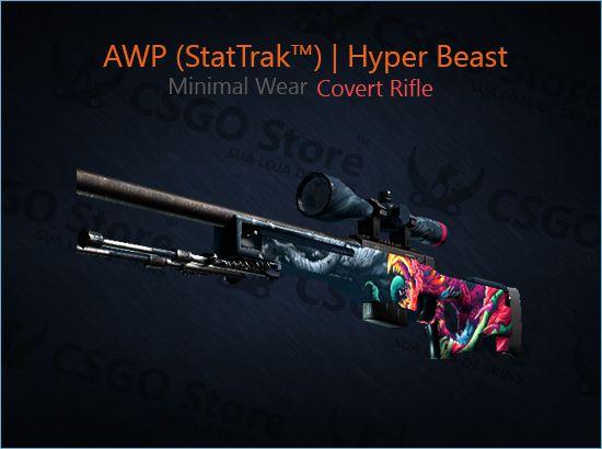 AWP (StatTrak™) | Hyper Beast (Minimal Wear)